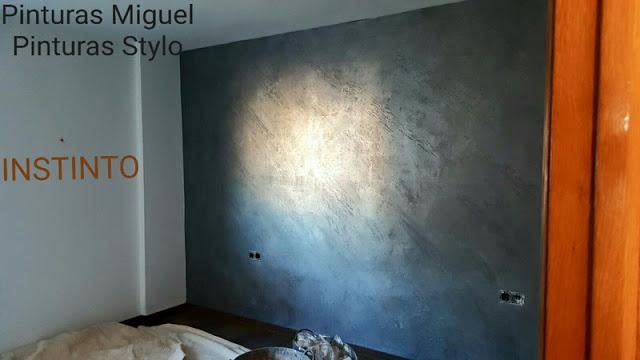 Trabajos realizados decoraci n con mortero y p tina - Pintura instinto ...
